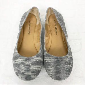 LUCKY BRAND Emmie Tie Dye Boho Flats Size 9 W